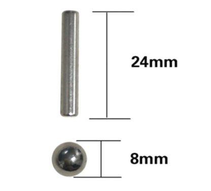 Магнитные палочки и стальные шарики